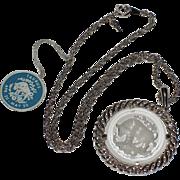 Trifari Taurus Zodiac 1960's Intaglio Pendant ~ Mint, Original Tag