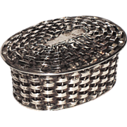 Taxco Sterling Woven Basket Trinket, Pill, Jewelry Box