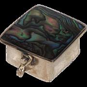 Alpaca Mexico Sterling Silver & Abalone Pill - Trinket Box