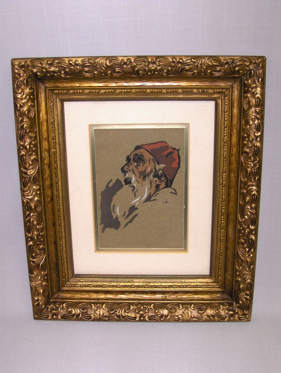 Vintage Chromolitho in Gilt Frame