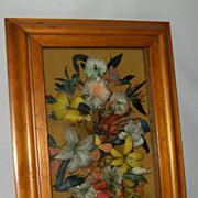 Victorian Shadowbox with Feather Arrangement