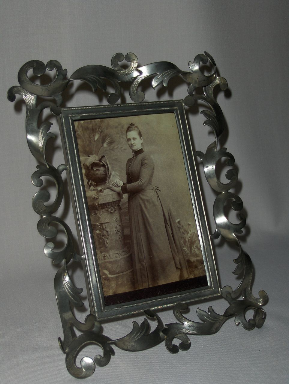 Victorian Nickel- Plate Picture Frame