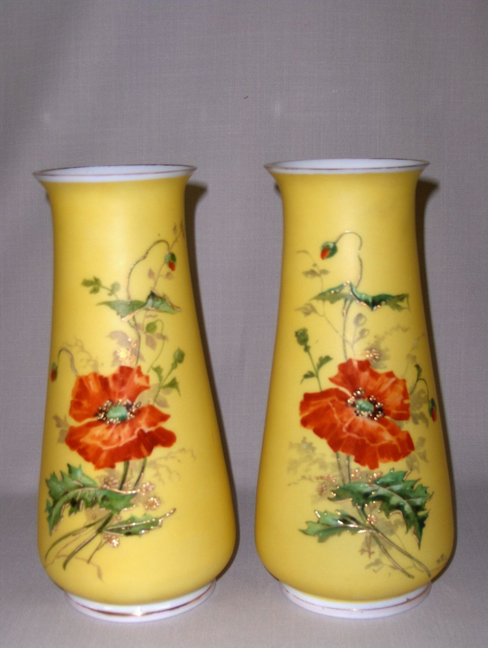 Pair of Antique Glass Vases