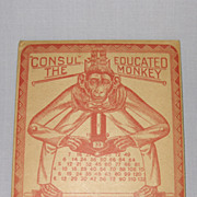 The Original 1916 Educated Monkey Calculator