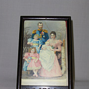 Colored Lithograph of Russian Royal Family