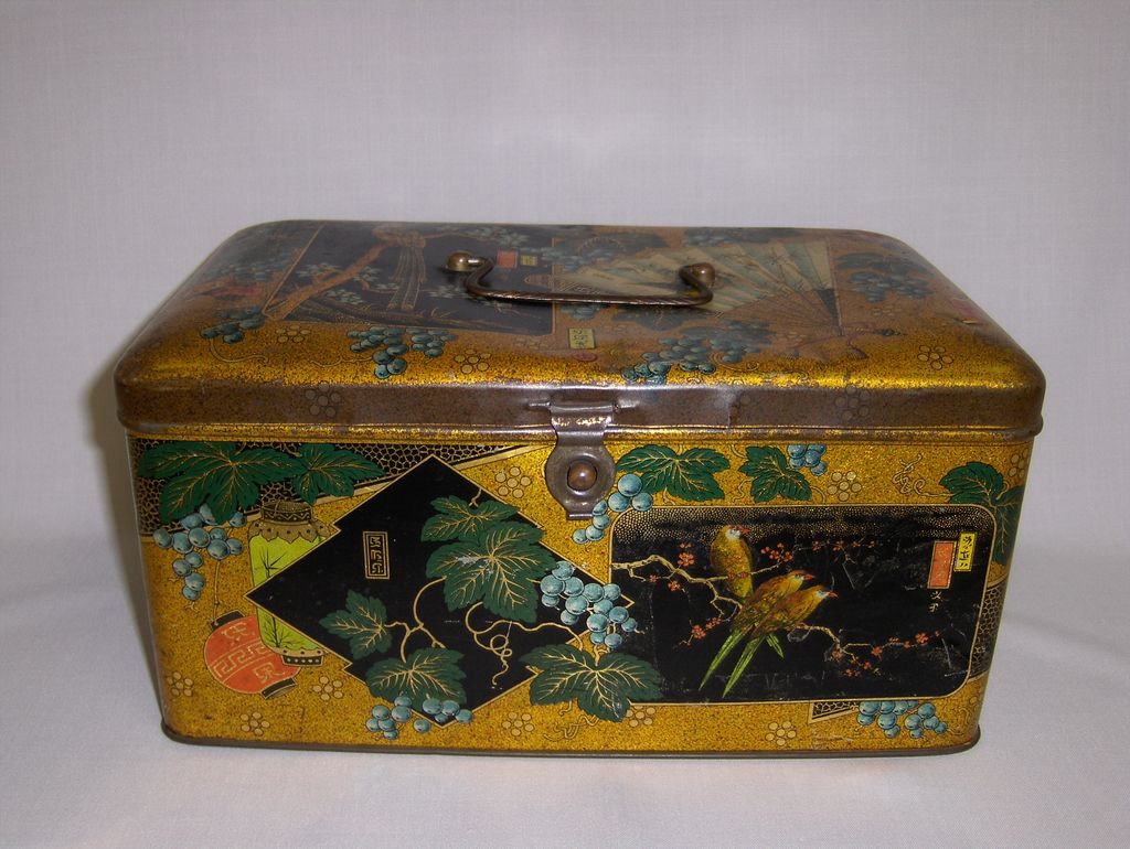 Rare Chinoiserie Tin Box
