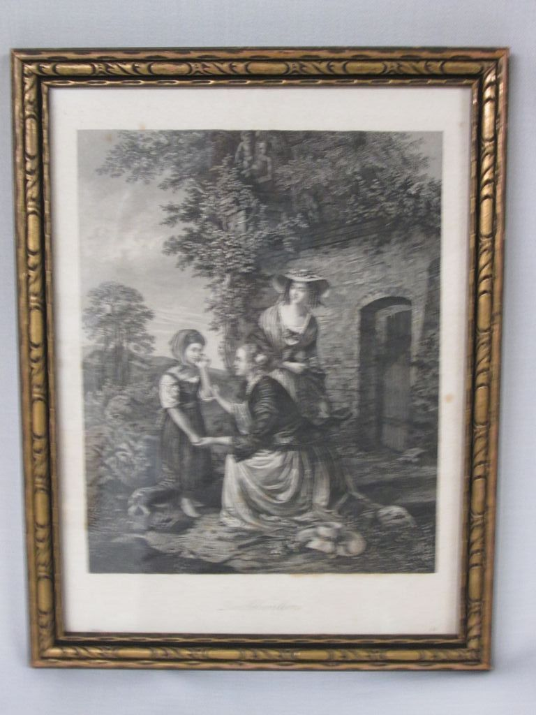 Acid Etched Lithograph from Germany