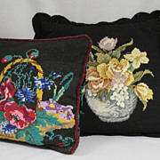 Vintage Needlepoint Pillows