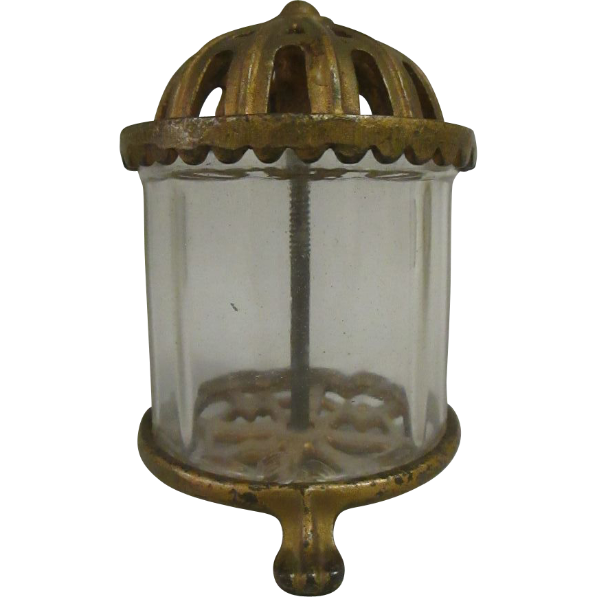 Antique Cast Iron Crystal Bank