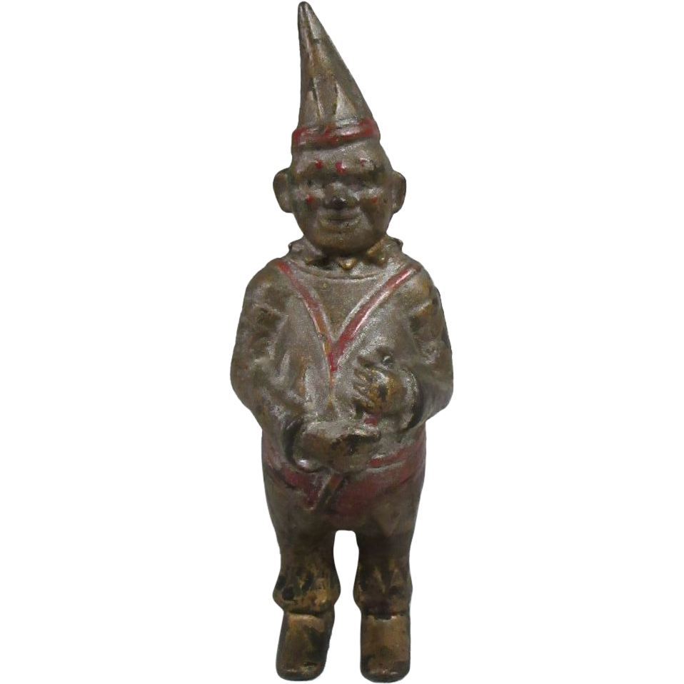 Antique Cast Iron Clown Bank