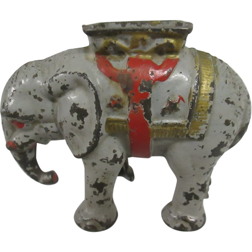 Antique Cast Iron Elephant Bank