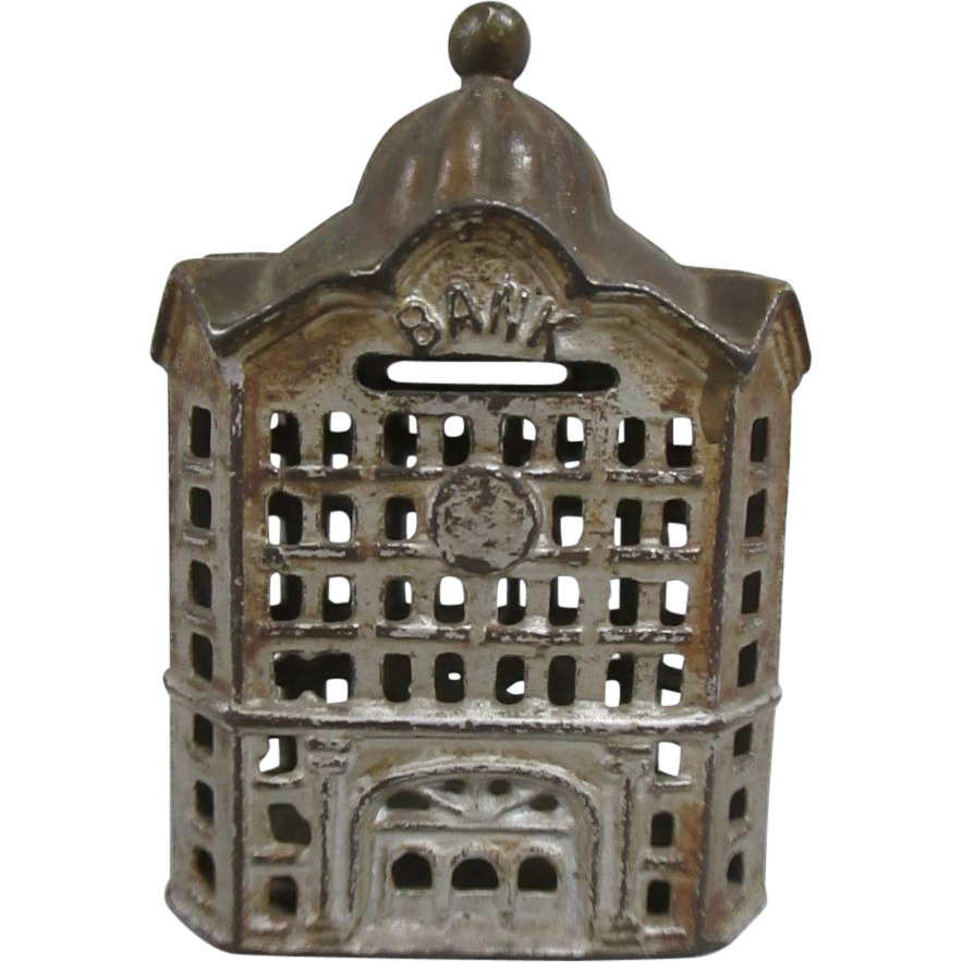 Antique Cast Iron Coin Bank