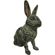 Antique Cast Iron Rabbit Bank