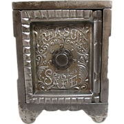 Antique Cast Iron Safe Bank