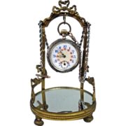 Antique Pocket Watch & Stand