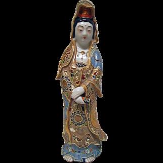 Satsuma Moriage Figure of Quan Yin