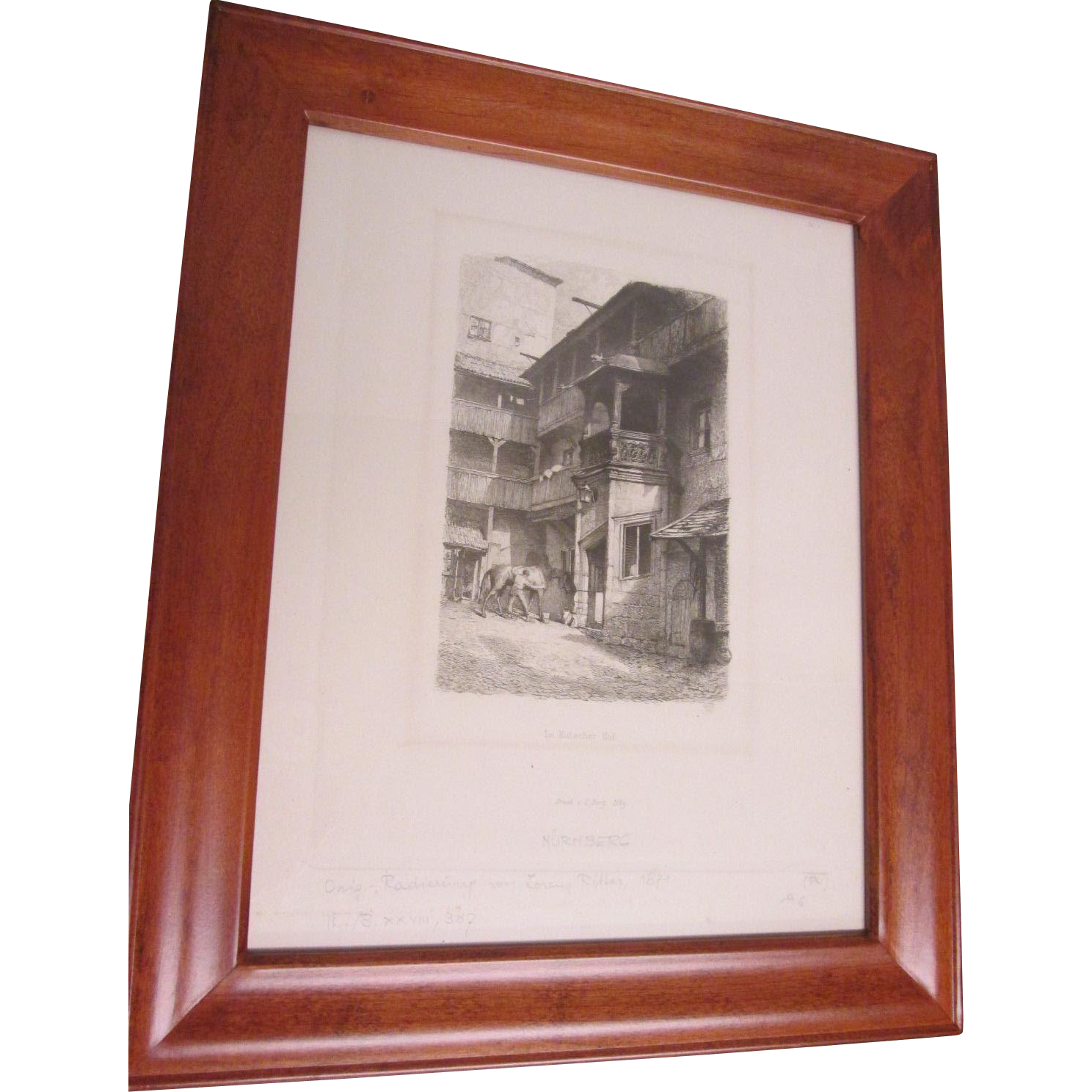 Pair of Antique German Lithographs