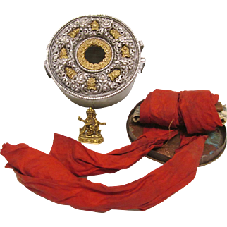 Antique Tibetan Gau Box