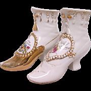 Pair of Victorian Souvenir Shoes
