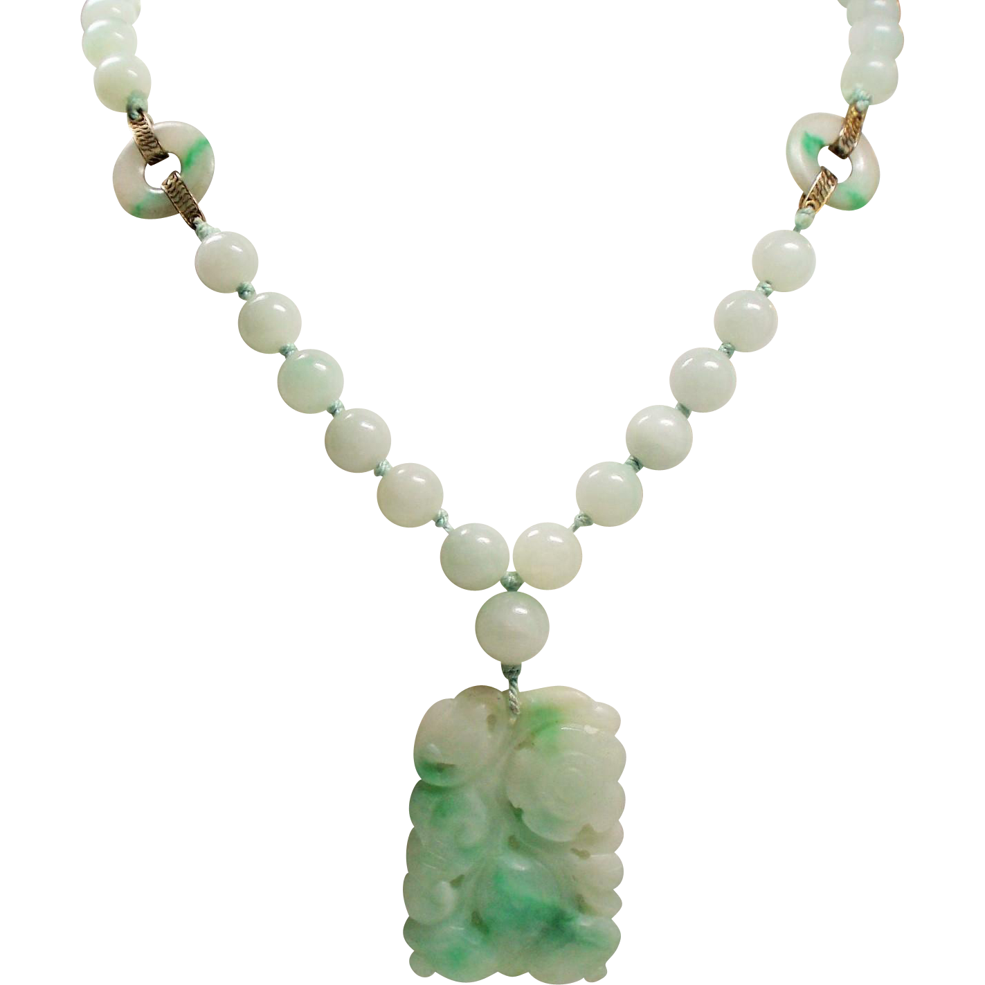 jewelry img ethnic vintage products chinese statement bold ancient chunky big sold green jade pendant necklace