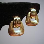 Vintage Christian Dior Door Knocker Earrings
