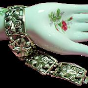 Vintage Danecraft Sterling Orchid Flower Bracelet