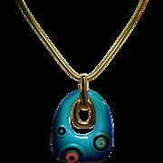 Vintage Eisenberg Artist Series Mod Enamel Pendant Necklace