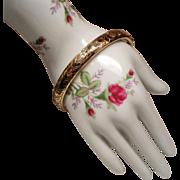 Vintage Gold Filled Repousse Hinged Bangle Bracelet