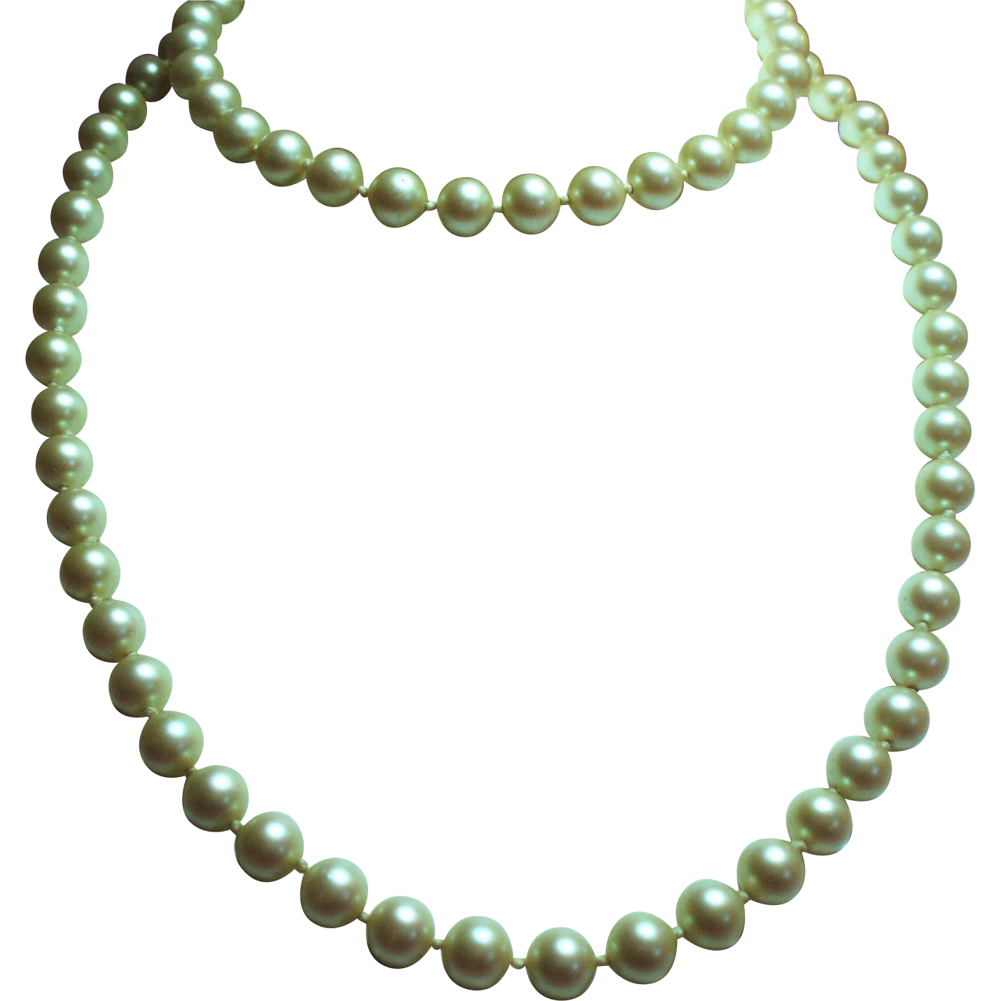Vintage Givenchy Faux Pearl Opera Length Necklace