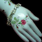 Vintage Joseph Wiesner N.Y. Asymmetrical Rhinestone Bracelet