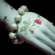 Vintage Judy Lee Big Faux Pearl Bracelet