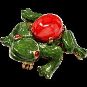 Vintage Mimi Di N Frog Brooch