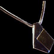 Vintage Trifari Two Tone Modernist Pendant Necklace