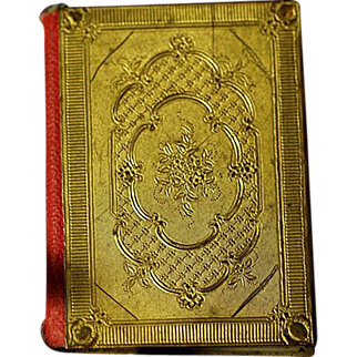 Antique 19th Century Viennese MINIATURE Mignon Book