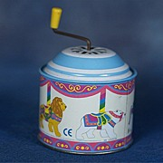 GERMAN Wonderful Tin Litho Musical Wind Up Box