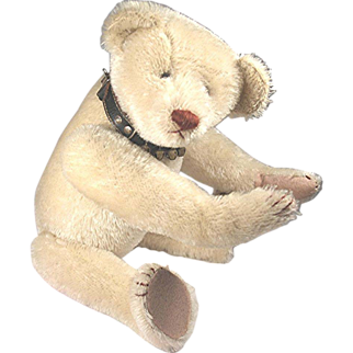Antique Hecla American Teddy Bear, White, ULTRA Rare MUSEUM QUALITY 1906-08
