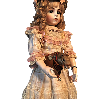 Antique ULTRA Rare Unique Doll French Toy HORSE BELT For French Or German Dolls COLLECTIBLE C. 19TH
