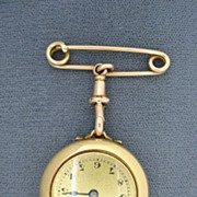 14K Gold Pendant Watch