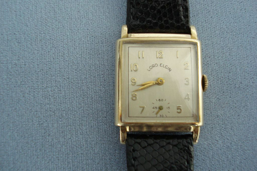 14K Gold Lord Elgin Wristwatch.