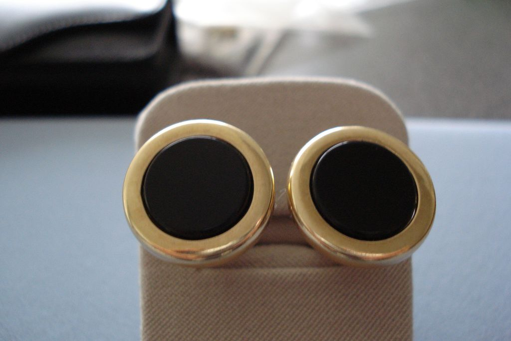 10K Gold Cufflinks with Onyx.