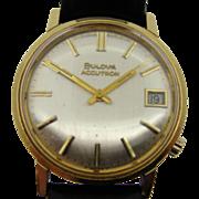18K Gold Bulova Accutron Waterproof Wristwatch