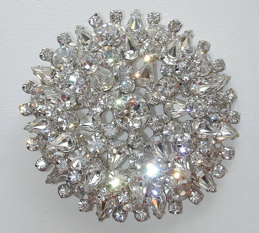 Juliana Large Clear Rhinestone Pin