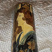 Stunning Large Amphora Mucha Art Nouveau Woman Organic Trees Vase Antique Rare Estate Secessionist