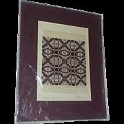 Vintage Folk Art Textile Coverlet Rug Weaving Kentucky artist Miniature Michigan Kent