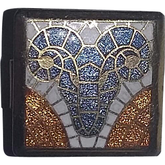 Vintage Mod Zodiac Aries Ram tie clasp bar mid century 60's clip