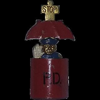 Vintage Super Rare Hattie Carnegie Pin Brooch 1930's Figural Pop up Policeman