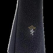 True Vintage 50's Iconic Rockabilly Grease Skinny Black Tie Lion Crest Coat Arms Necktie