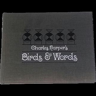 Mid Century Modern Art Book Harper Birds Prints Signed 1970's