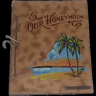 Rare Vintage 40's Wedding Book Florida Leather Honeymoon Estate
