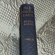 Old Italian Lace Book Books Ricci Vols One and Two Rare 1913 Estate Gorgeous
